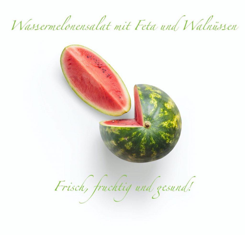 Read more about the article Wassermelonensalat mit Feta und Walnüssen
